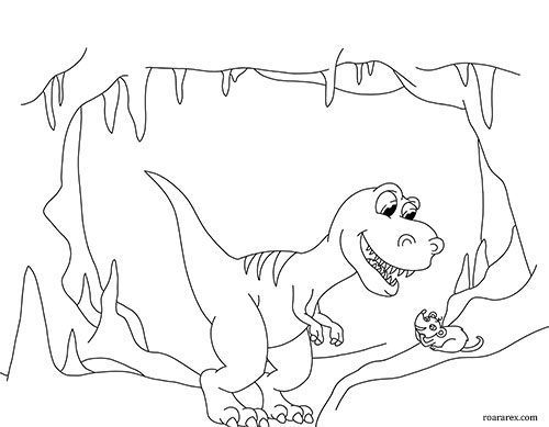 Roara and Shrew Coloring Page